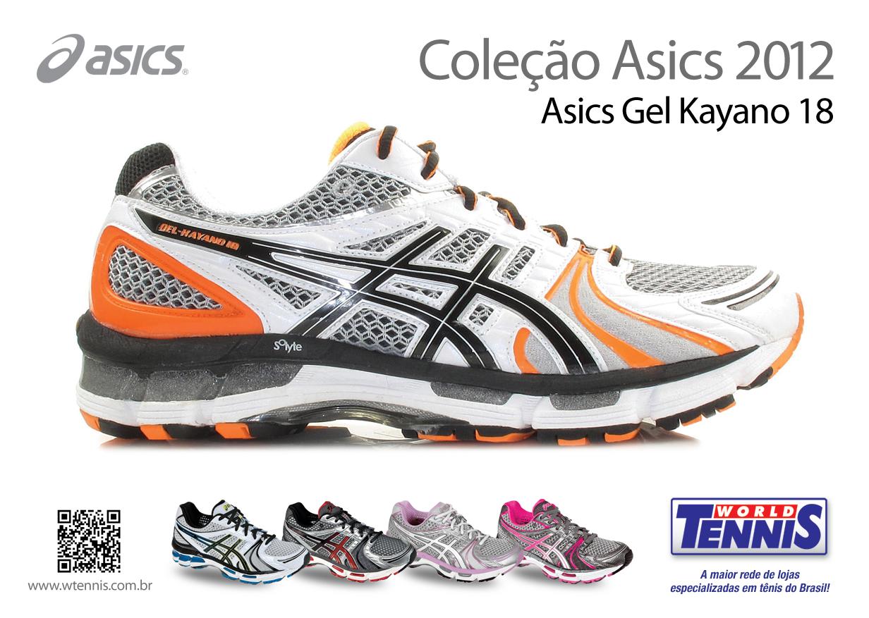 0f4bef65fb Gel-Kayano 18 – o primeiro lançamento da Asics - World Tennis - Tênis