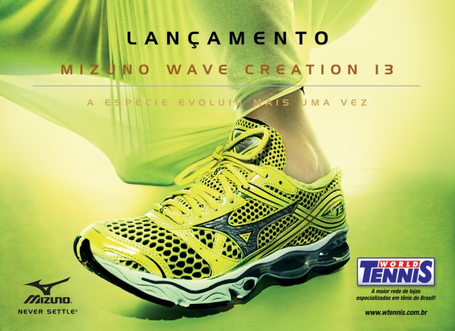 bc938e0e16 Ele chegou! As lojas World Tennis começaram a receber essa semana o Mizuno  Wave Creation 13 ...