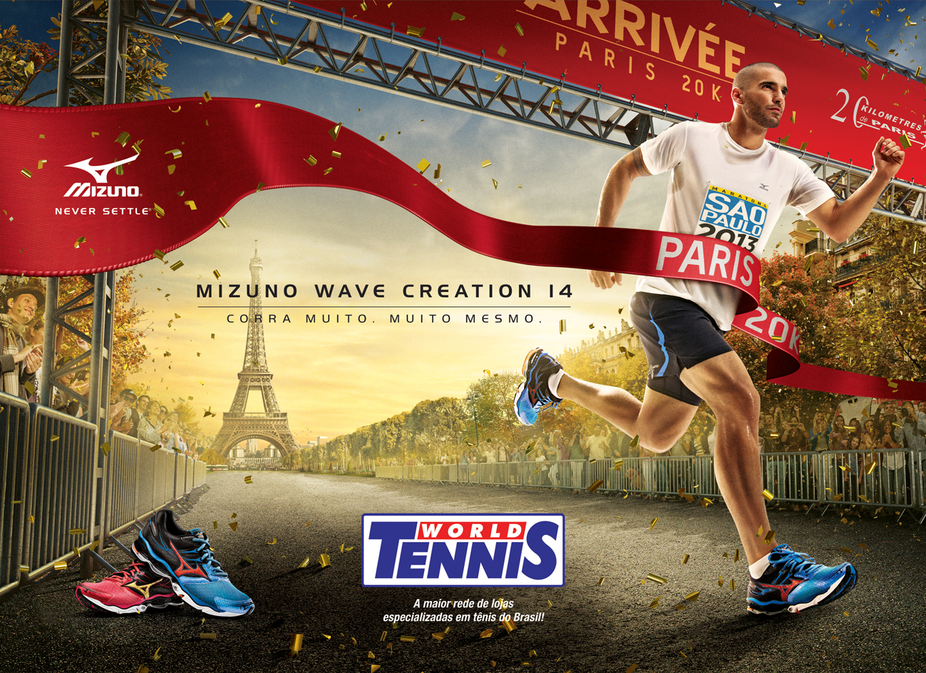 8f54e3fc699 World Tennis recebe campanha do Mizuno Wave Creation 14 - World ...