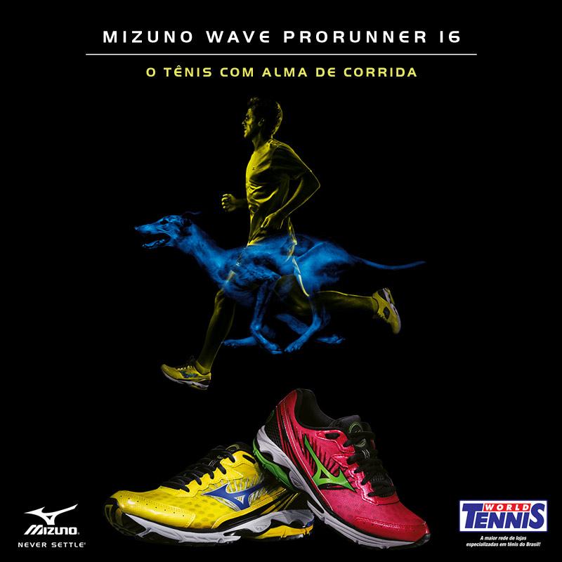8bdea3ccf9 World Tennis faz campanha especial para Mizuno Wave Prorunner 16 ...
