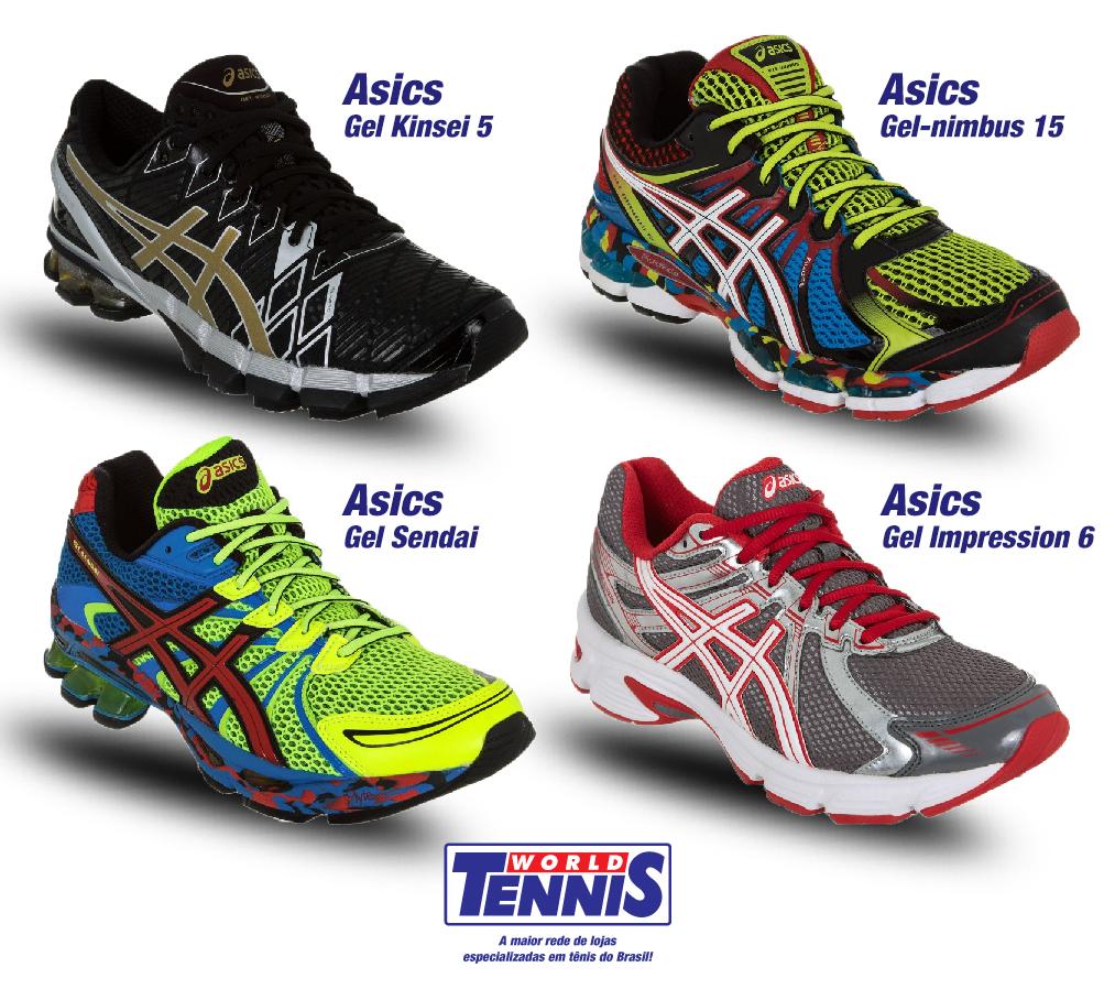 f83e8a40a Um tênis Asics para cada atividade - World Tennis - Tênis