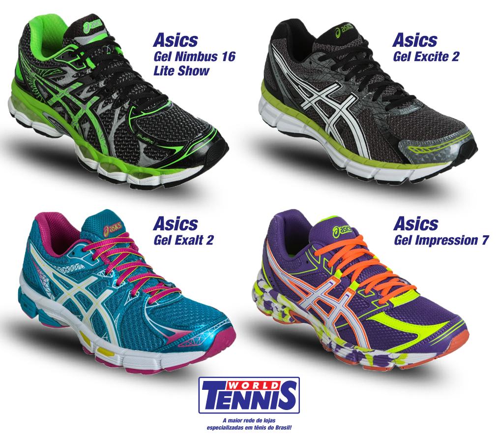 0a45ce6fd02af Novidades  Tênis Asics Gel - World Tennis - Tênis