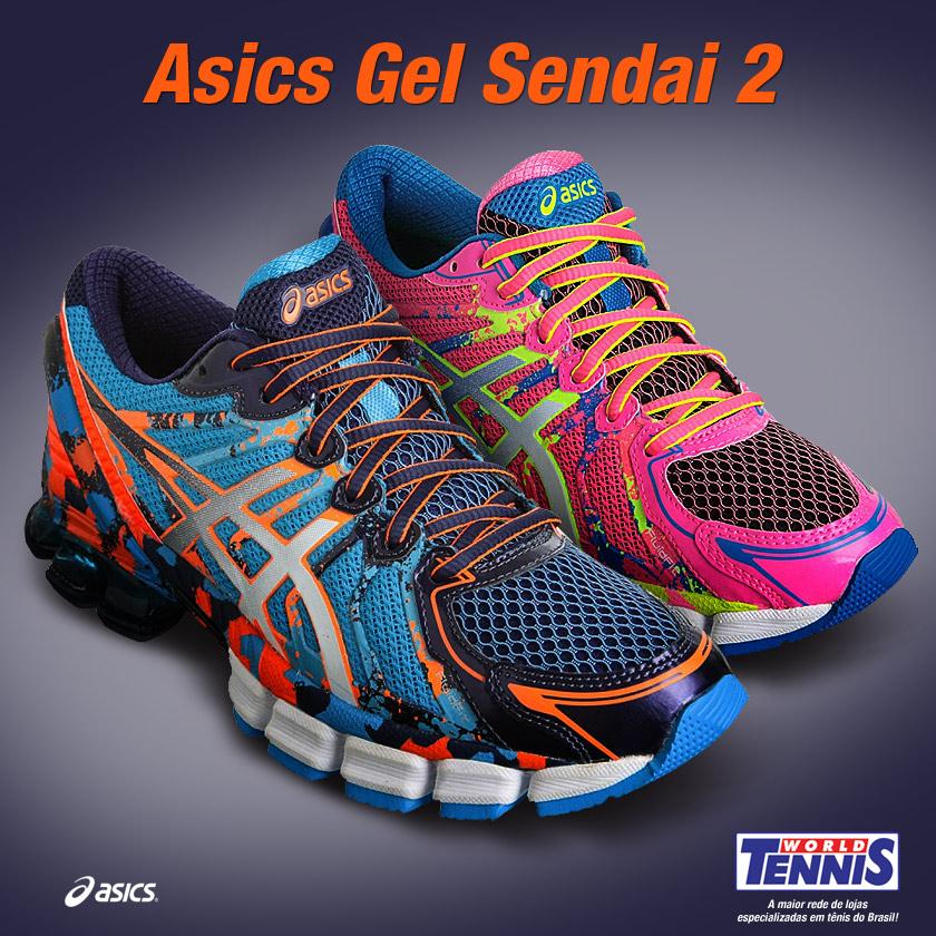 97286ce225e14 Novidade  Asics Gel Sendai 2 - World Tennis - Tênis