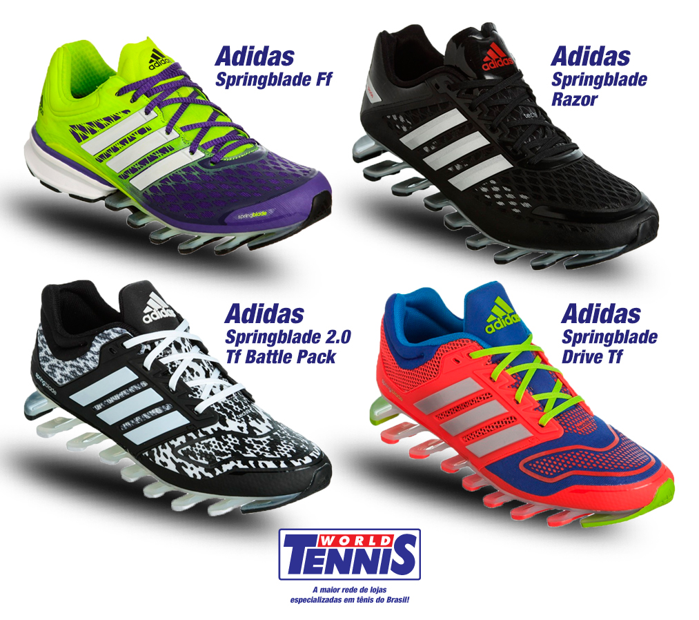 8d43db3f06f Adidas Springblade - World Tennis - Tênis