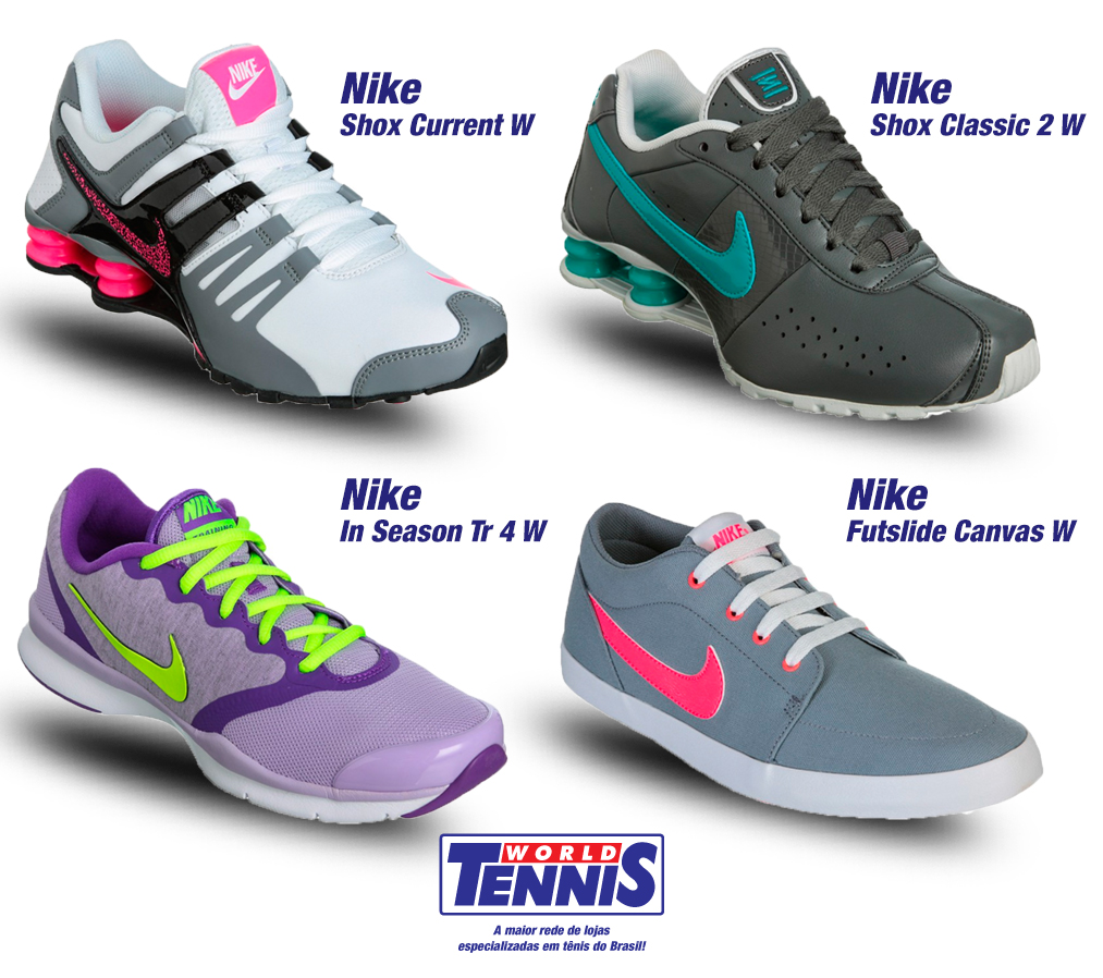 7d8548da5 Tênis Nike Feminino Casual - World Tennis - Tênis