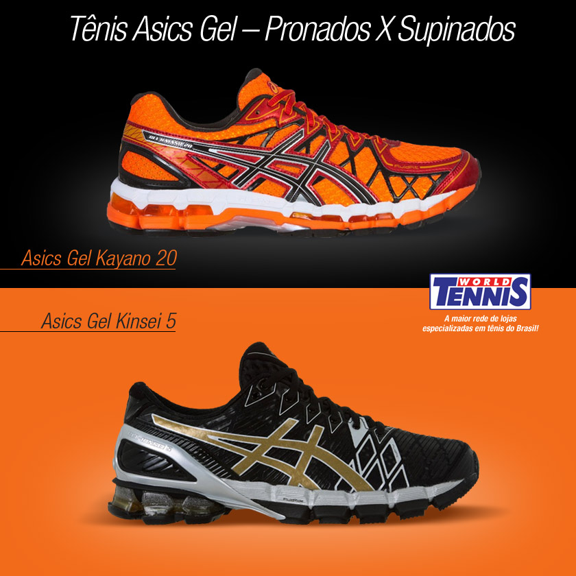 26afb6daf43 Tênis Asisc Gel – Pronados X Supinados - World Tennis - Tênis
