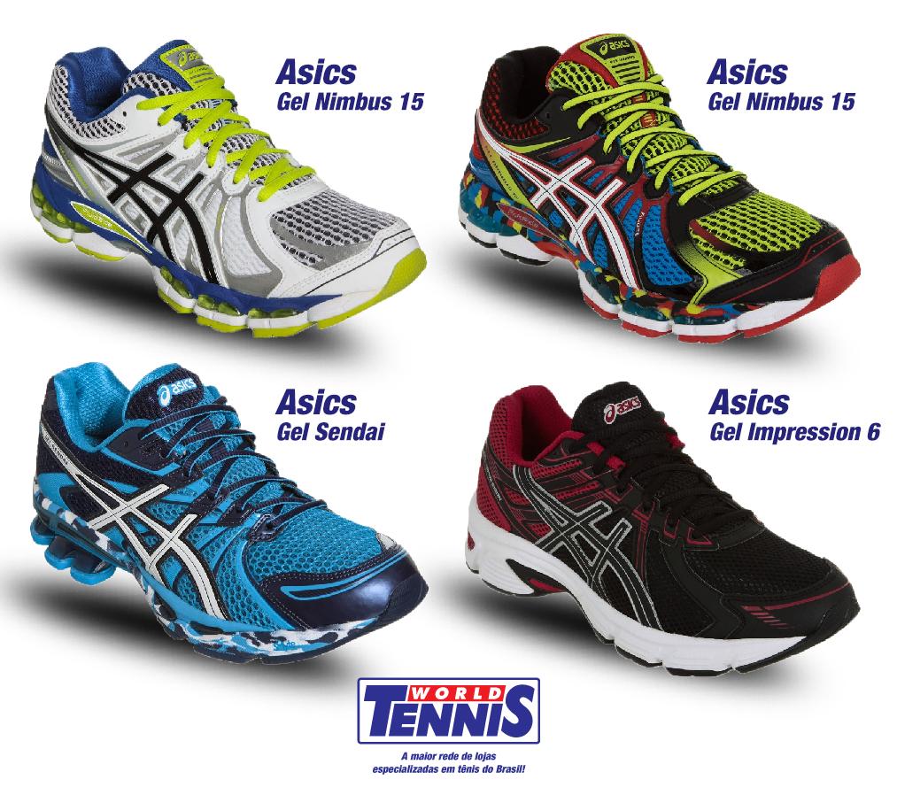 Promoção de tênis Asics