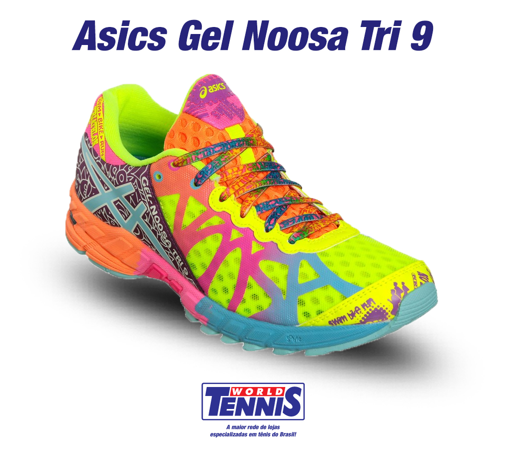 tenis asics feminino colorido gel noosa tri 9 walk to. Black Bedroom Furniture Sets. Home Design Ideas